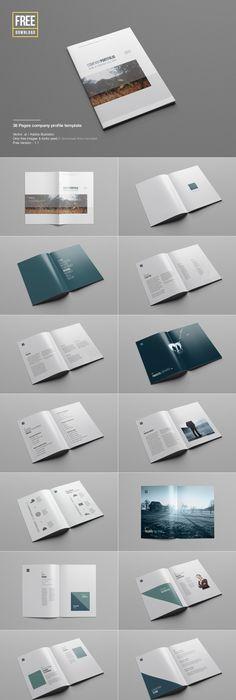 Construction Company A5 Profile Template #design Downlod   - free company profile template word