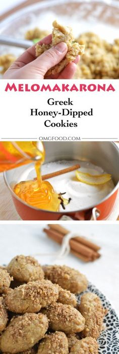 Melomakarona greek honey spice cookies recipe honey syrup melomakarona finikia honey dipped cookies greek food recipesgreek dessertseasy forumfinder Choice Image