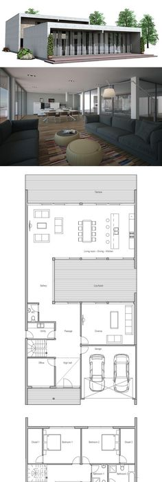 Very Narrow House Small private courtyard Floor Plan from - best of blueprint container house