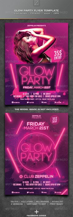 Neon Party Flyer  Neon Party Party Flyer And Psd Templates