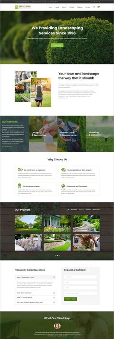 Buy Landscaping   Gardening, Lawn U0026 Landscape PSD Template By Clevertheme  On ThemeForest. Introduction Landscaping PSD Template Is An Elegant  Template Built ...