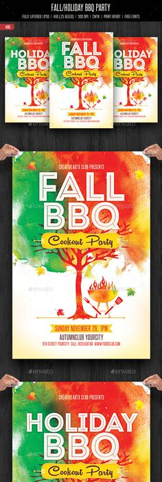 Bbq Party Event Poster Or Flyer  Flyer Template Print Templates
