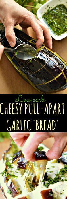 Low Carb Cheesy Pull Apart Garlic U0027Breadu0027 Made A Little Bit Healthier Using