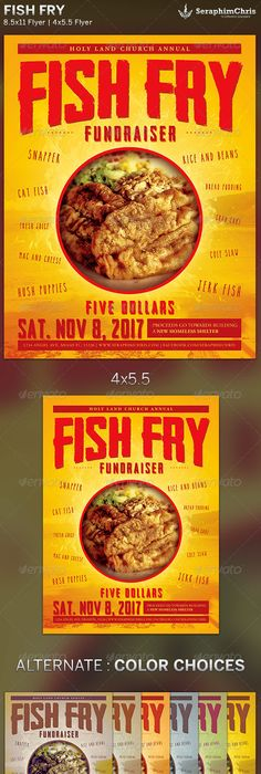 Fish Fry Flyer Design The Best Fish 2018