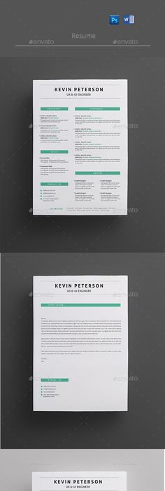 Resume Template Design Download HttpGraphicriverNetItem