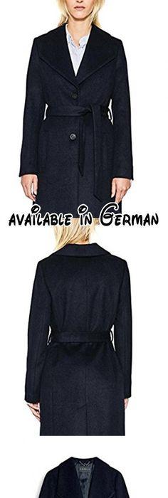 ESPRIT Collection Damen Mantel 087EO1G025, Blau (Navy 400), Medium  (Herstellergröße: