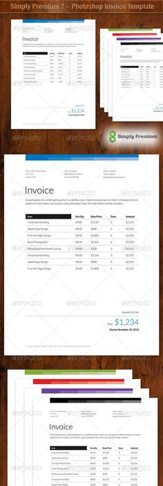 Invoice  Quote Design By Pascale Dufour Via Behance  Books