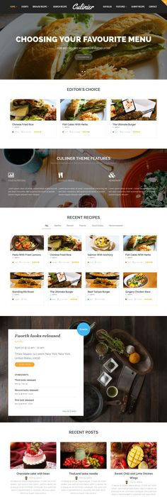 Talisa food recipes wordpress theme wordpress culinier food recipe wordpress theme forumfinder