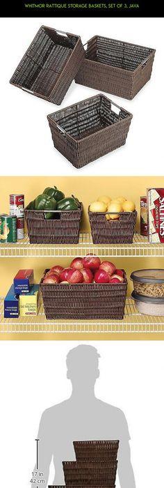 Whitmor Rattique Storage Baskets Set of 3 Java #fpv #camera #kit  sc 1 st  Pinterest & 13x9x8 Wire Basket Metal Storage Bin Vintage Wire Organizer Basket ...