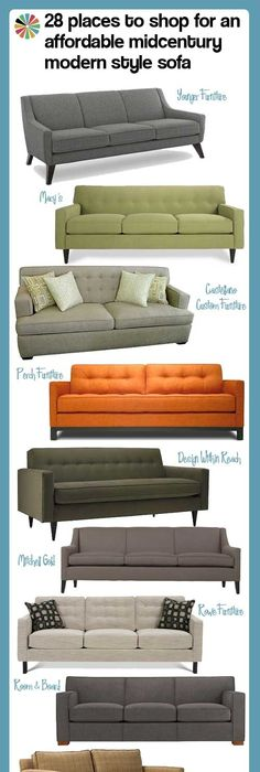 Affordable Mid Century Modern Style Sofas From Companies - Affordable mid century modern sofa
