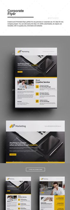 TriFold Brochure Template For Seo Search Engine Optimization