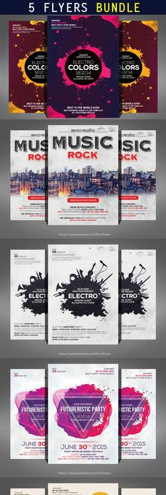 Advertising Poster Templates Custom Electro Party Flyer Templates  Flyer Template Party Flyer And .