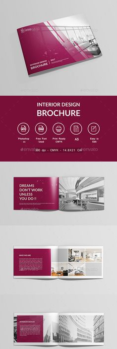 Interior Design Brochure Template Psd  Brochure Templates