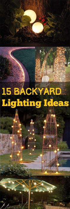 28 outdoor lighting diys to brighten up your summer 15 backyard lighting ideas mozeypictures Image collections