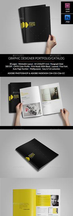 Clean Portfolio Brochure Template Brochure template, Brochures and