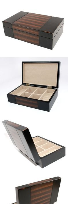 MultiPurpose 168165 Men Jewelry Box Valet Tray Faux Leather W