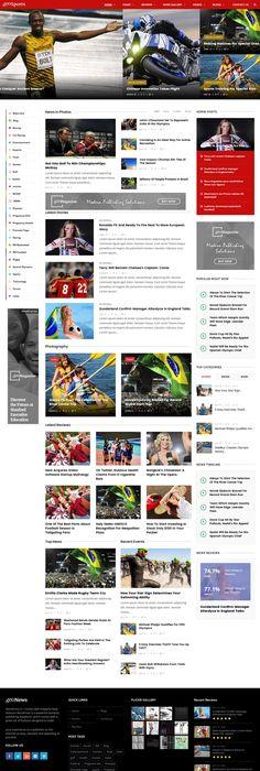 Template 58404 King News Responsive Wordpress Theme Wordpress