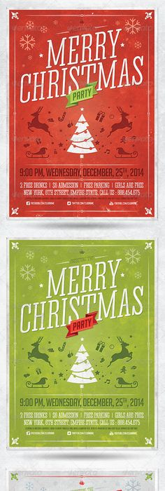 Celebrations  Christmas Flyer Template  Print