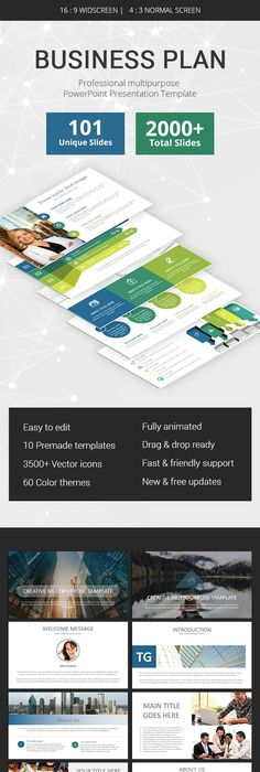 Tangible Powerpoint Presentation Presentation templates, Template - professional business plan
