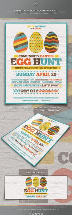 Easter Egg Hunt Flyer Easter, Egg and A4