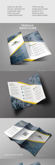 Corporate TriFold Brochure Tri Fold Brochure Template Tri Fold - Tri fold brochure template indesign free download