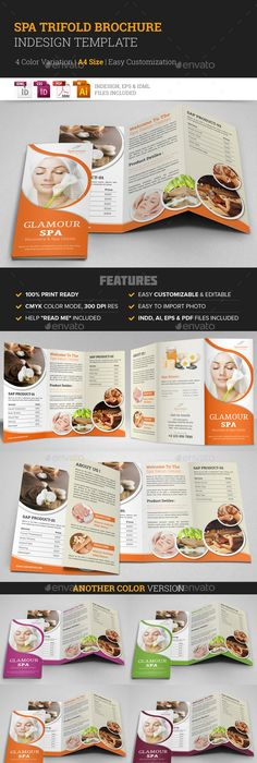 Gym Fitness Trifold Brochure Indesign Template  Indesign Templates