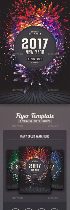 New Year Party Flyer  Flyer Template Template And Party Flyer