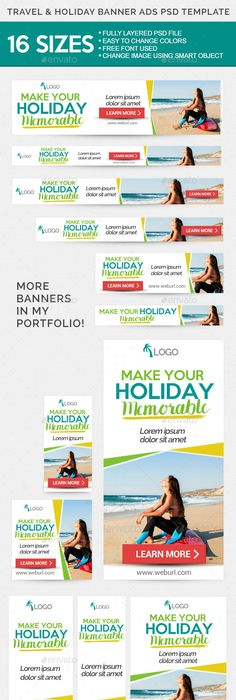 Your Paradise Web Banner Template | Banner template, Web banners and ...