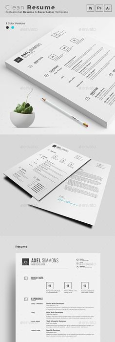 Resume  Psd Template Resume Booklet Multipurpose  Download