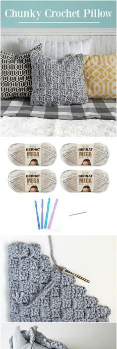 Free Easy Crochet Pillow Pattern | Yarnspirations | Bernat | Free ...