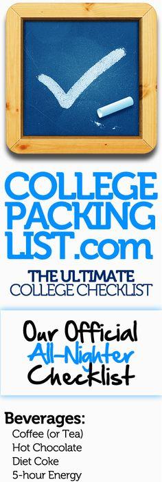 College Checklist Free Downloads College checklist, College and