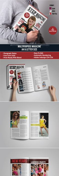 Clean Magazine Template Template, Print templates and Print magazine