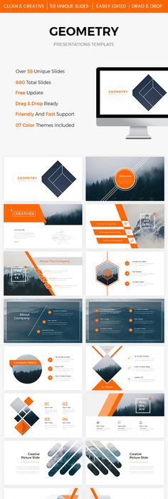 Oblique - PowerPoint Presentation Template Layouts, Template and
