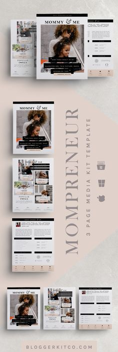 ThreePage Media Kit Template  Press Kit Template  Electronic
