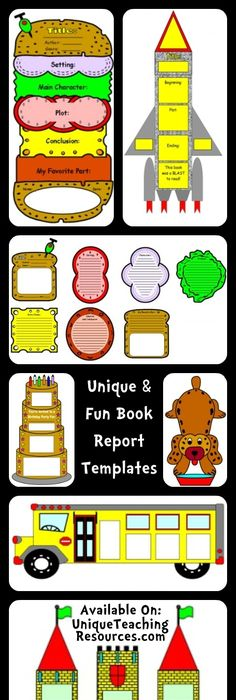 Book Report LapBook Reluctant readers, Alternative and Books