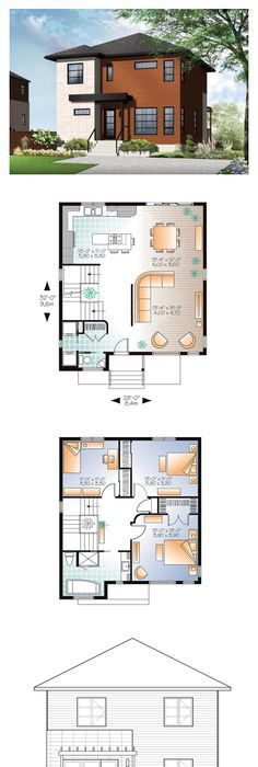 modern floor plans. Modern House Plan 76366 | Total Living Area: 1670 Sq. Ft., 3 Floor Plans
