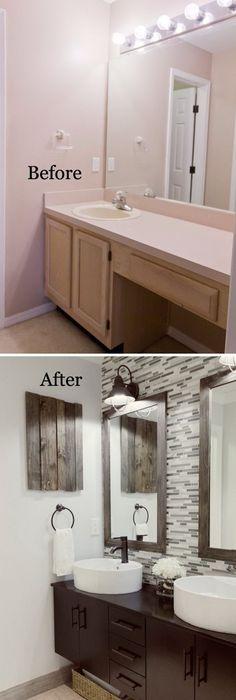 bathroom ideas remodel. 37 Small Bathroom Makeovers Ideas Remodel