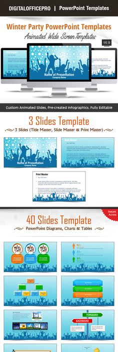 Learning PowerPoint Template Backgrounds Template - winter powerpoint template