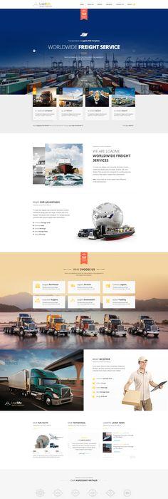 Max Logistics - Transport & Logistics HTML Template | Psd templates ...