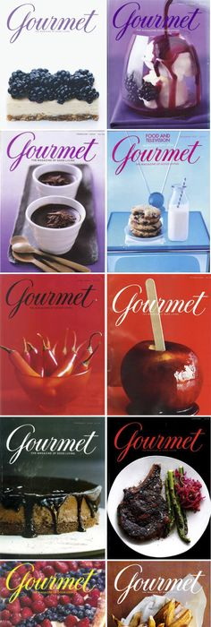 i miss the amazing design colours and photography of gourmet magazine covers