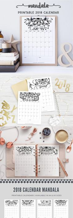 Free Printable  Wall Calendar Hand Lettered  Clipboards