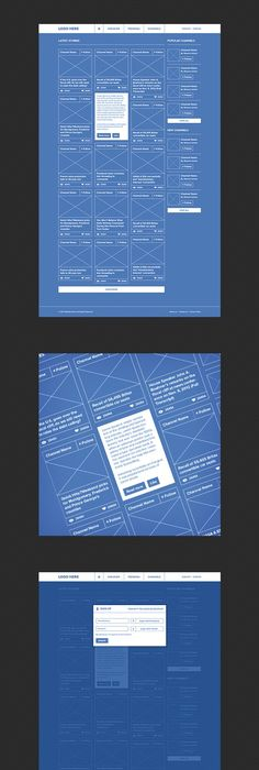 Social Network - Ui   UX #blueprint #wireframe Best Web Design - copy blueprint network design