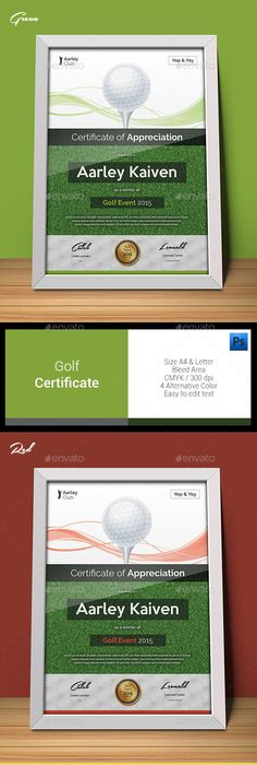 Golf Certificate Certificate Template And Infographic Templates