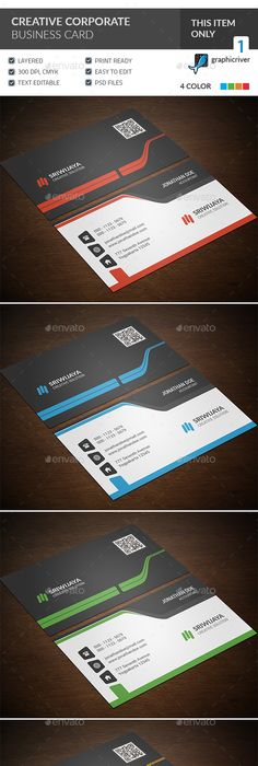 Corporate Business Card Template Corporate Business Cards Download