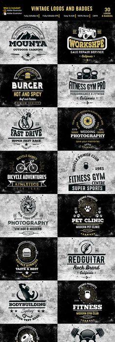 Vintage Fighting Emblems   Ai illustrator, Illustrators and Template