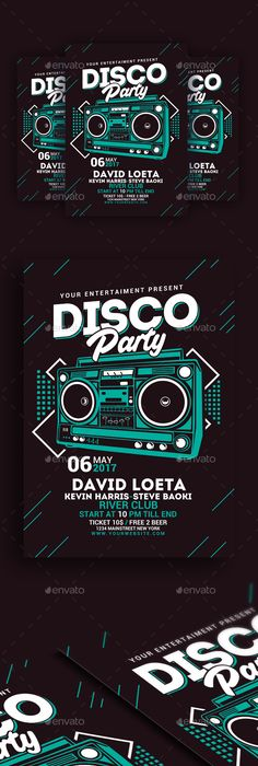 SS Retro Party Flyer Template On Behance  Party Themes