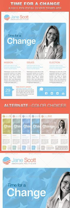 Political Flyer Template   Flyer Template Template And Brochures