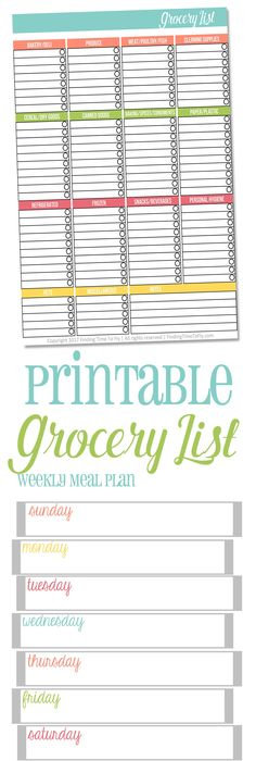 Free Printable Grocery List  Free Printable Store And Free