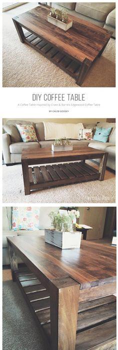 A Beautiful Aspen And Pine Diy Coffee Table Inspired By Crate U0026 Barrelu0027s  Edgewood Coffee Table