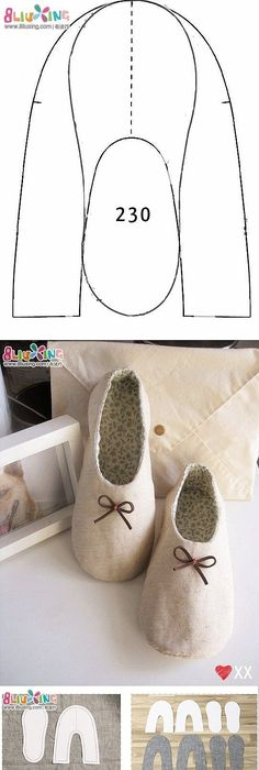I have been looking for a free slipper pattern for fleece! I tried ...